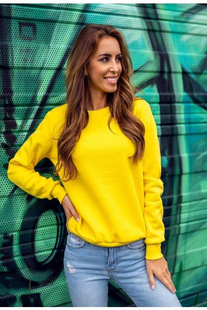 Žlutá dámská mikina