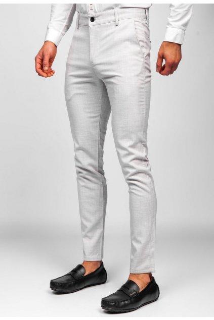 Béžové pánské kalhoty