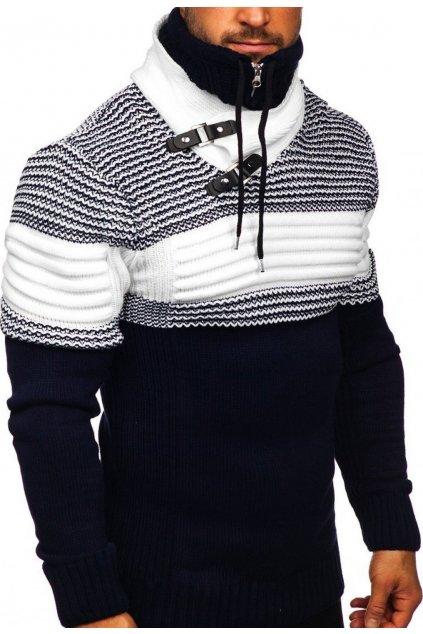 Tmavé modrý pánský svetr
