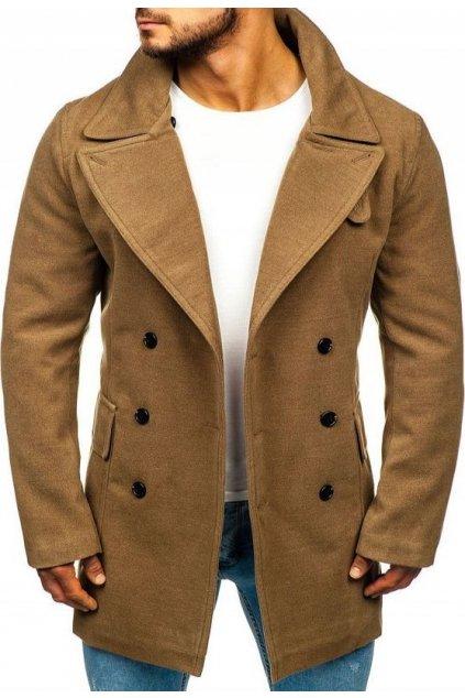 Hnědý pánský kabát