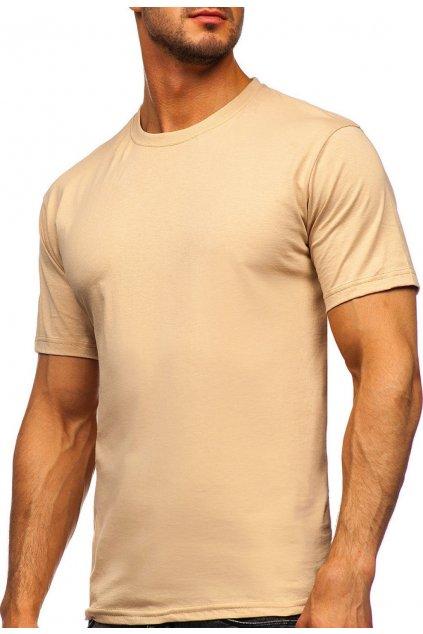 Béžové pánské tričko