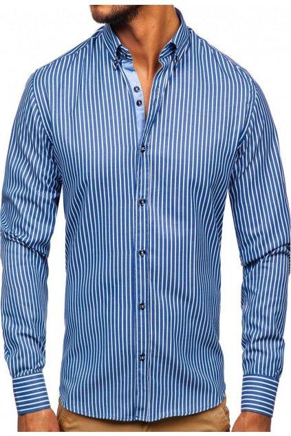Modrá pánská košile