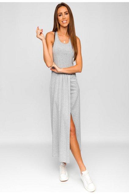 Šedé dámské šaty