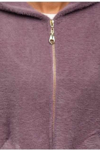 Fialová dámská přechodná bunda