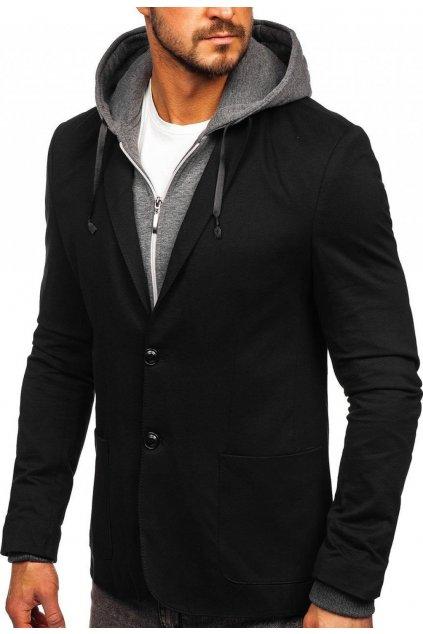Černé pánské sako