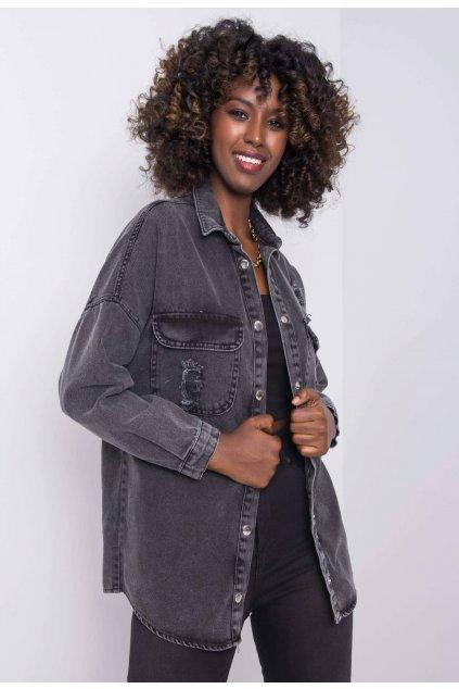 Černá dámská džínová bunda
