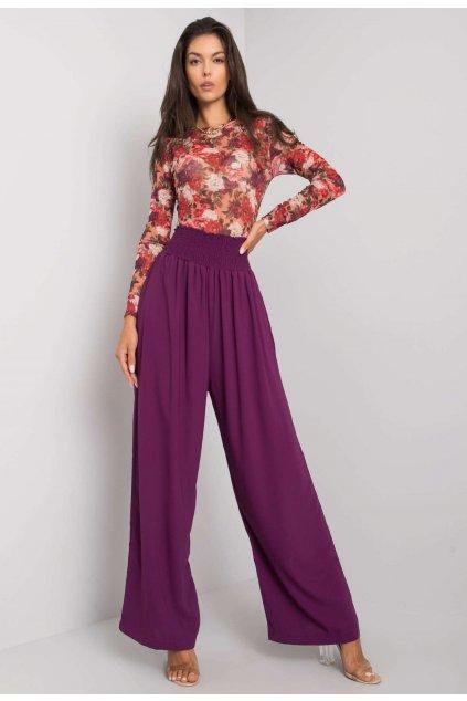Fialové dámské kalhoty