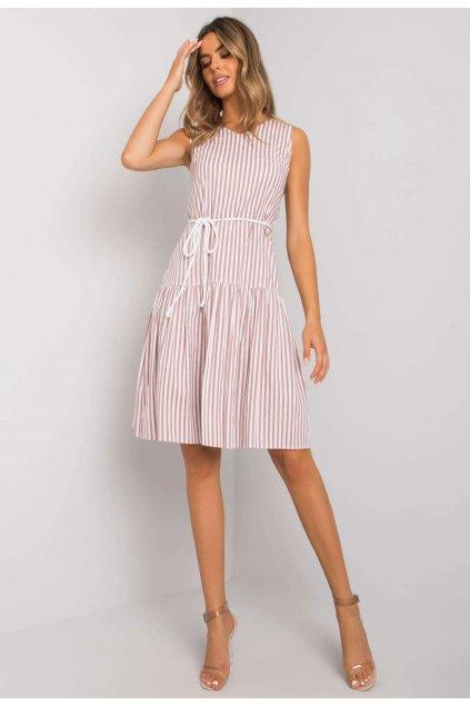 Bílo - růžové dámské šaty