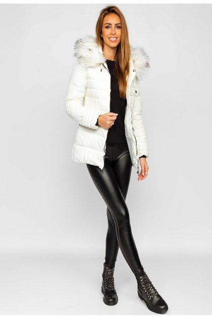 Bílá dámská zimní bunda