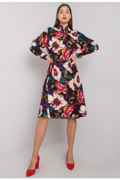 Černo -  růžové dámské šaty