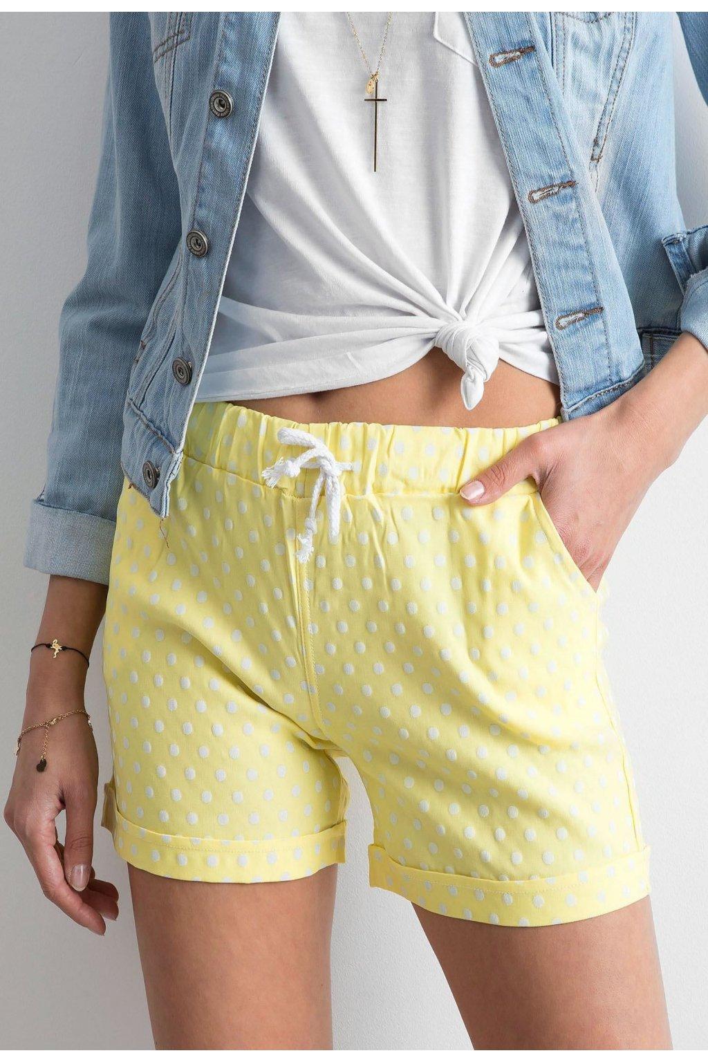 Sárga női rövidnadrág