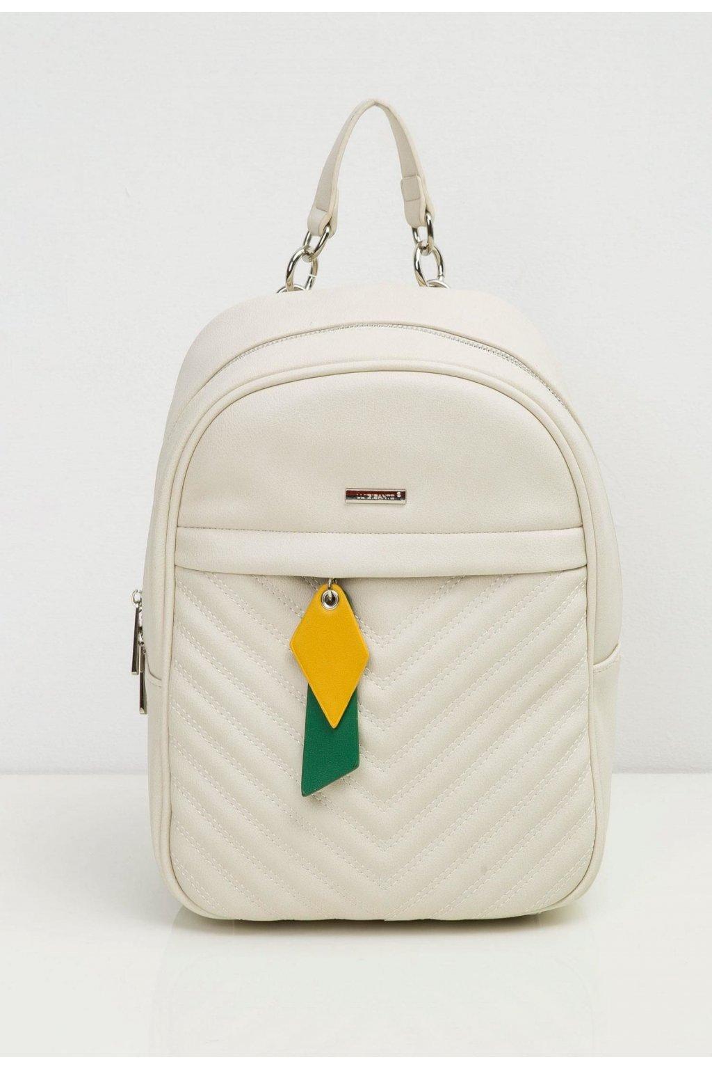 Tejszínes női hátizsák