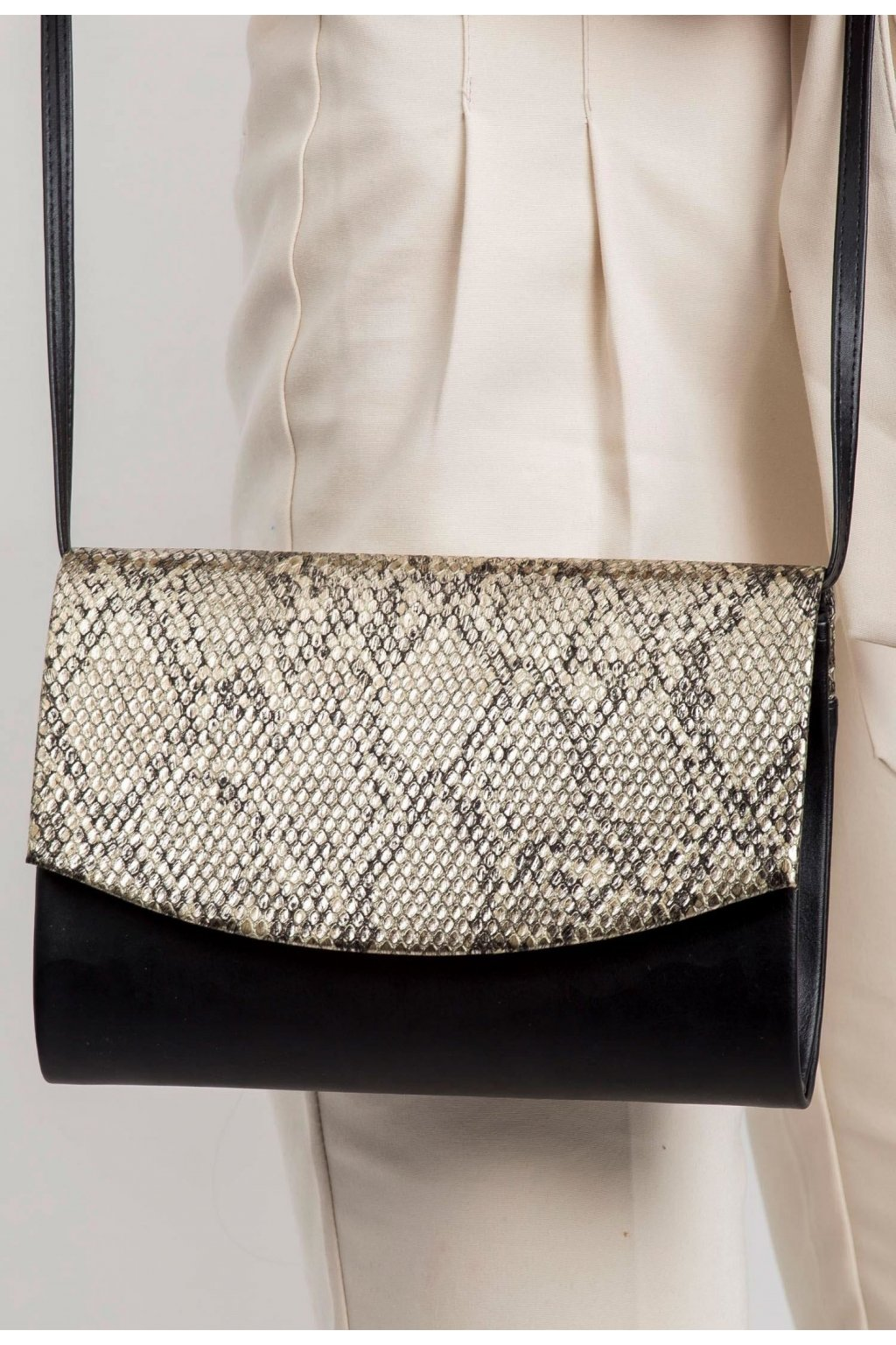 Fekete és arany női estélyi táska