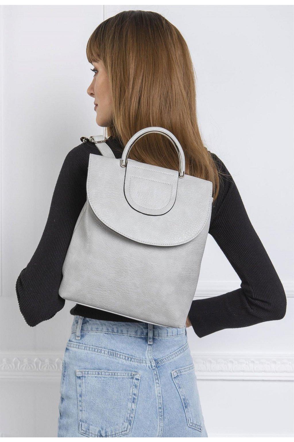 Szürke női hátizsák