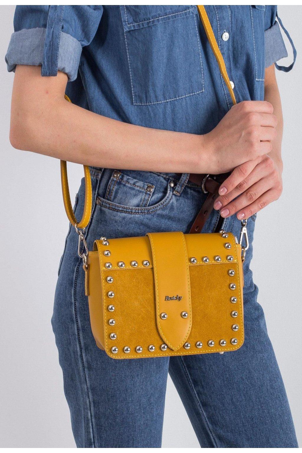 Sárga női crossbody kézitáska