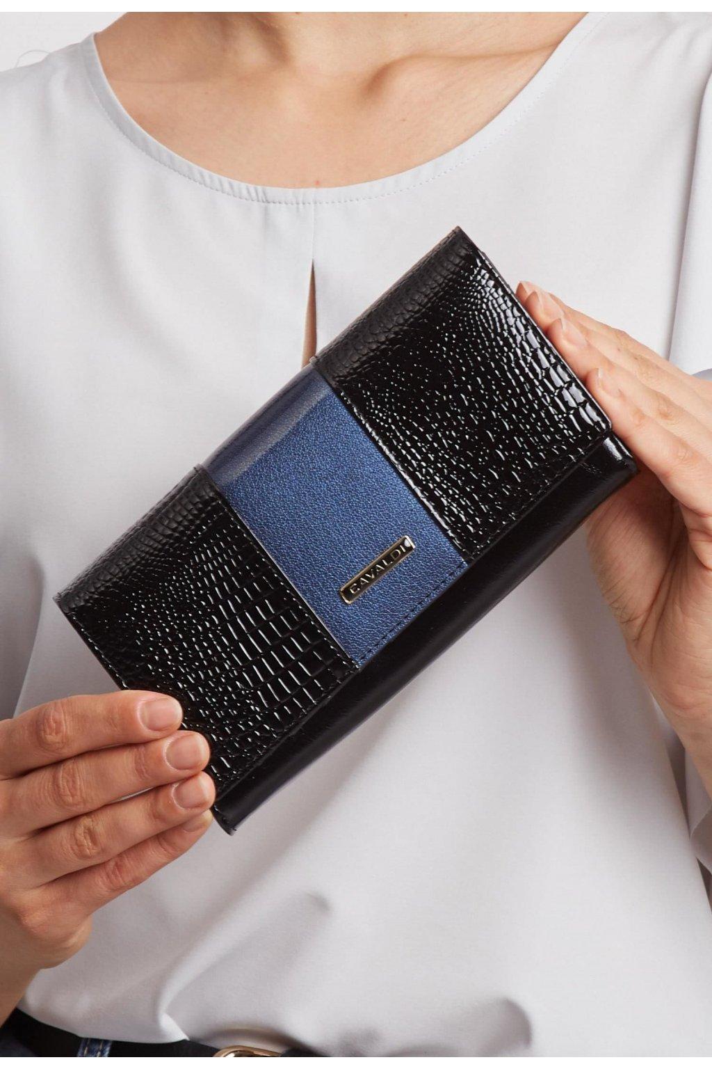Fekete kék női pénztárca