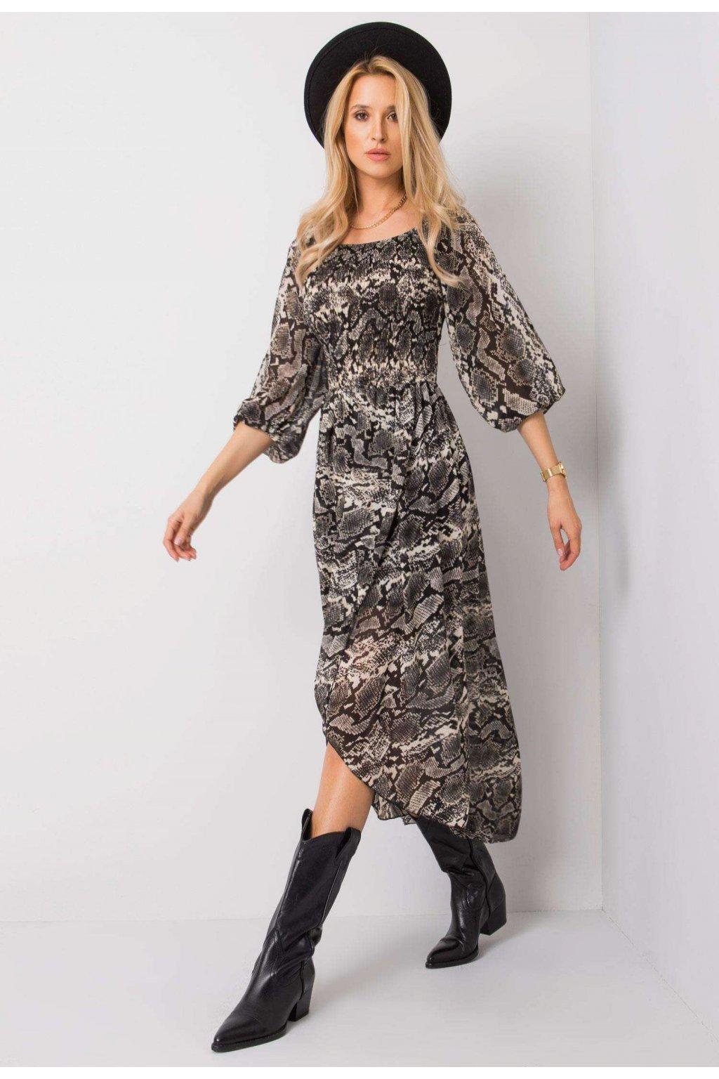 Fekete - bézs női ruha