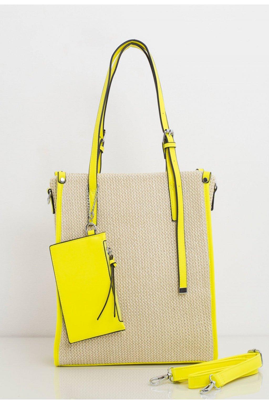 Sárga női válltáska