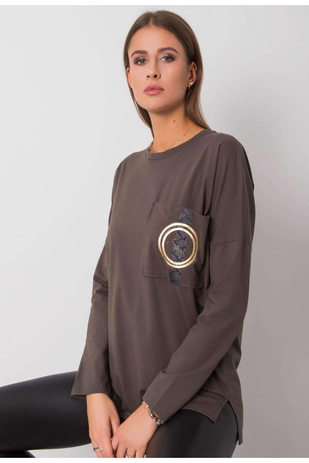 Khaki női blúz