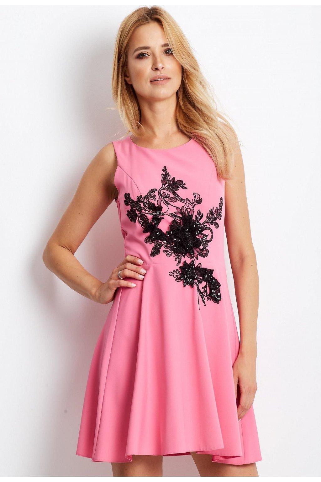 Rózsaszín női koktélruha