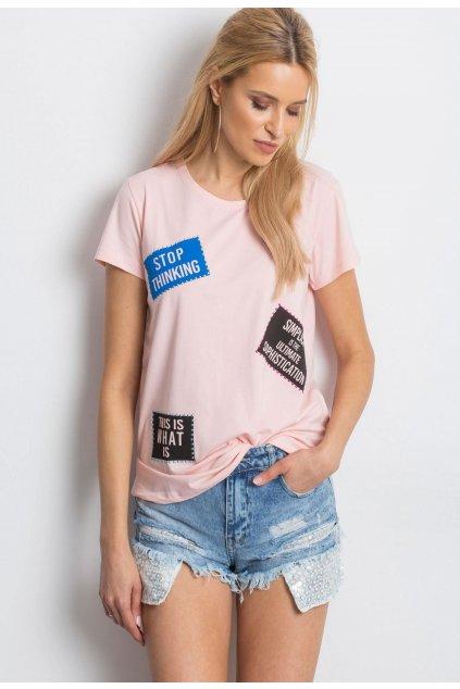 Rózsaszín női póló