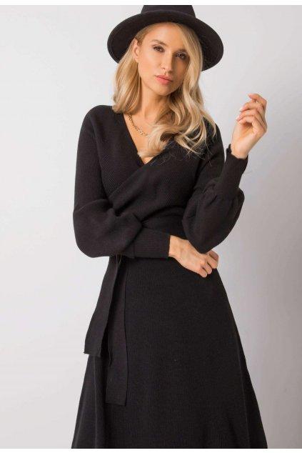 Fekete női kötött ruha