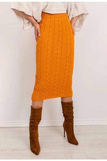 Narancs női kötött szoknya