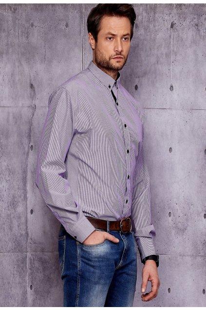Lila férfi ing