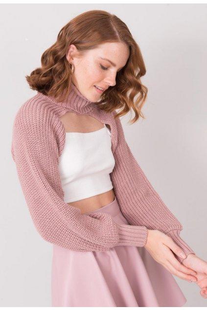 Rózsaszín női magas nyakú szvetter