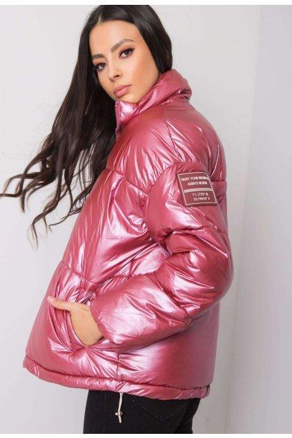 Rózsaszín női téli dzseki