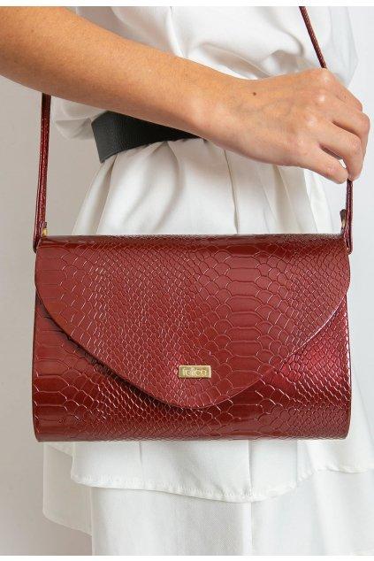 Burgundia női estélyi táska