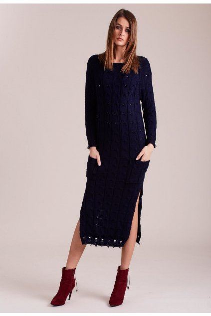 Kék női kötött ruha