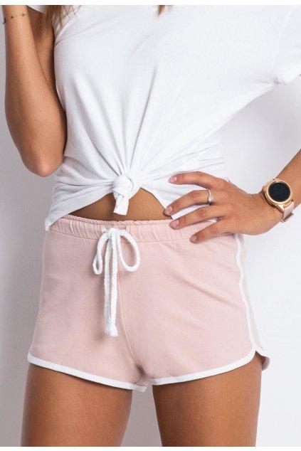 Rózsaszín női rövidnadrág