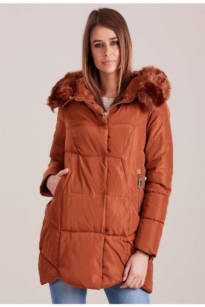 Barna női téli dzseki