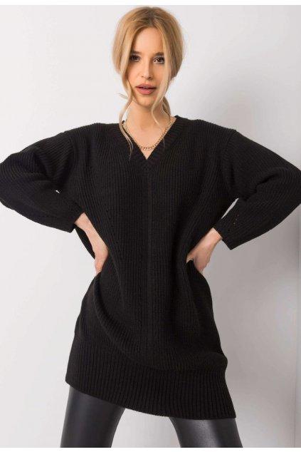 Fekete női hosszú szvetter