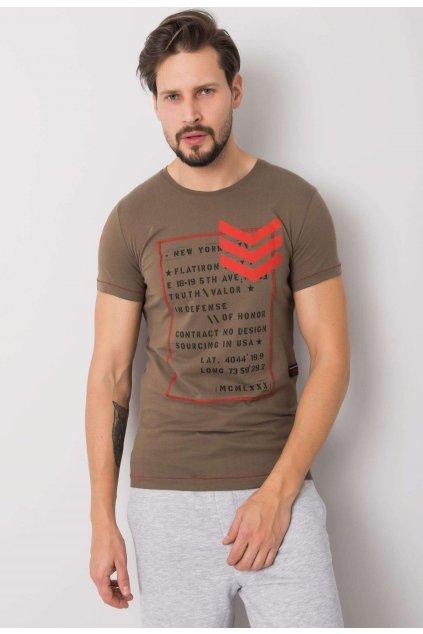 Khaki férfi póló