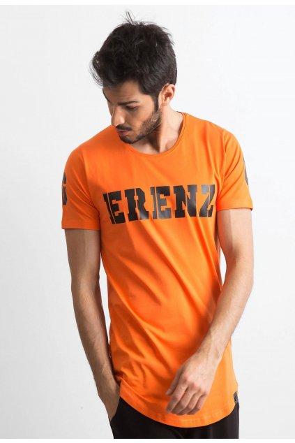 Narancs férfi póló