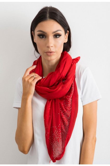 Piros női kendő