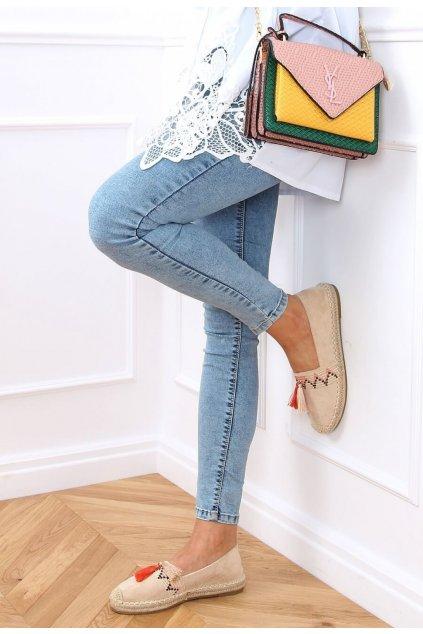 Bézs női espadrilles cipő