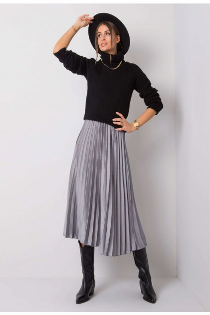 Szürke női rakott szoknya