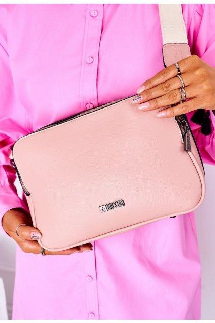 Rózsaszín női crossbody kézitáska