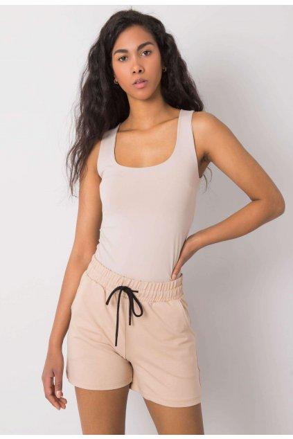Bézs női rövidnadrág