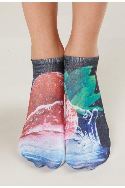 Sokszínű női zokni