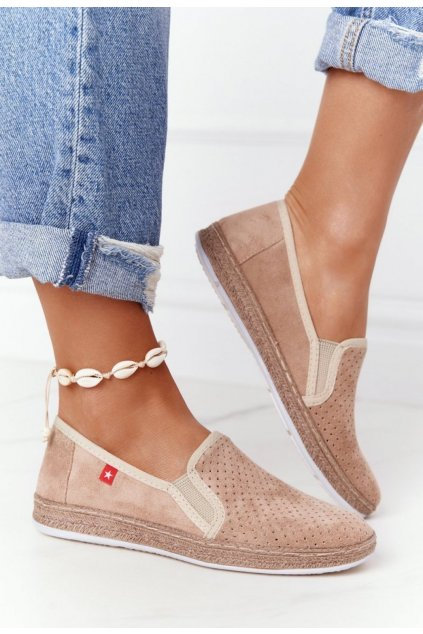 Barna női espadrilles cipő