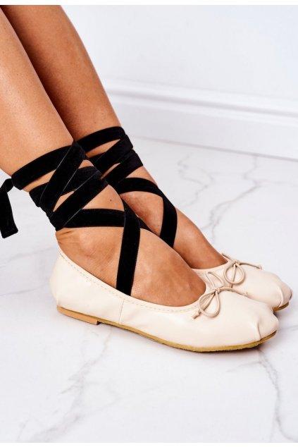 Barna női balettcipő