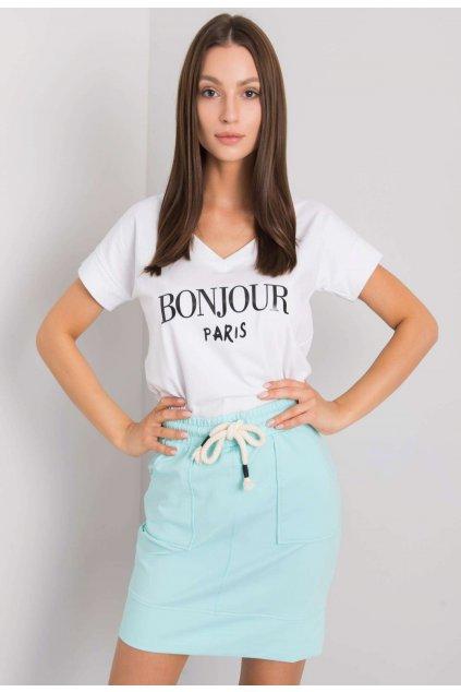Fehér női nyomott mintás póló