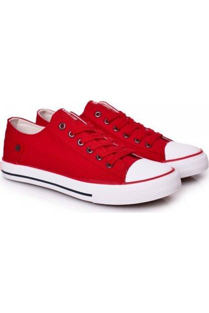 Piros férfi edzőcipő