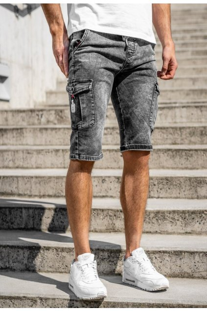 Fekete férfi rövidnadrág