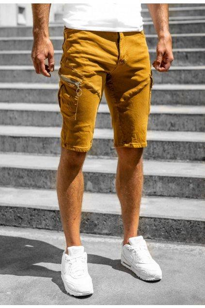 Barna férfi rövidnadrág