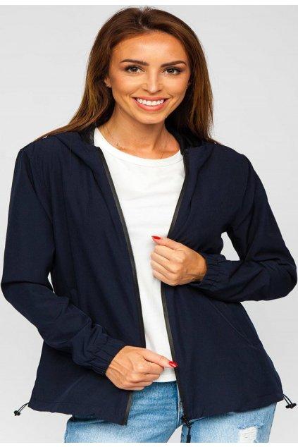 Sötétkék női átmeneti dzseki